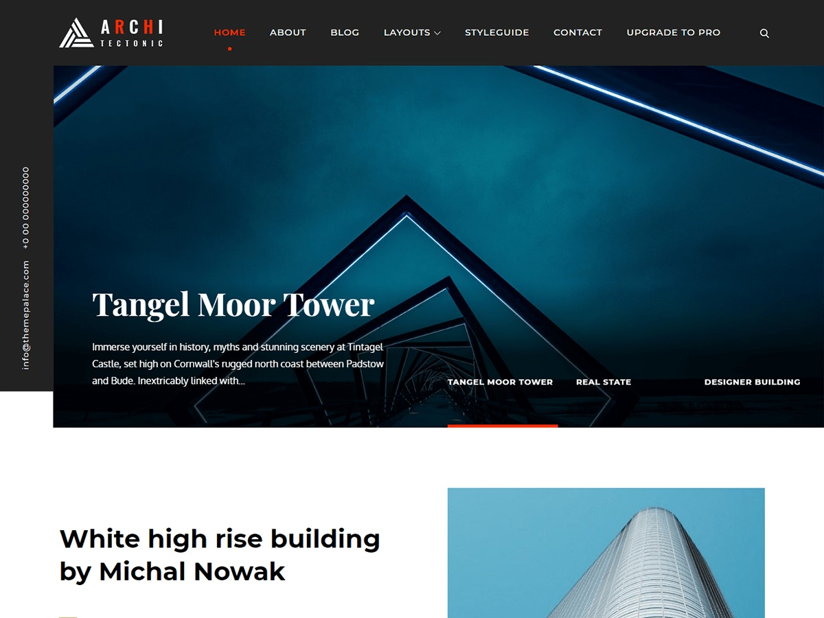 Architectonic premium WordPress theme