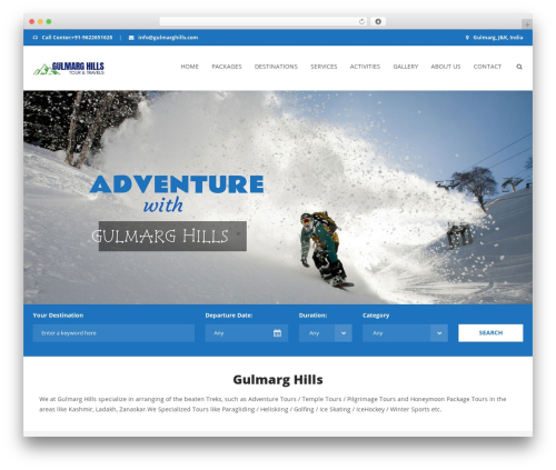 Aventura WordPress travel theme - gulmarghills.com