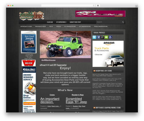 Best WordPress template ProSUV - muddytires.com