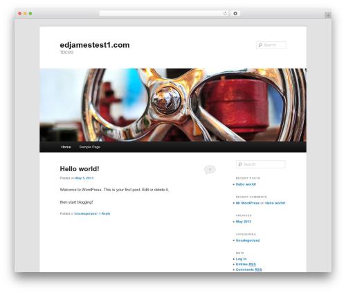 Best WordPress template Twenty Eleven - edjamestest1.com