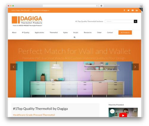 Best WordPress theme Avada - dagigathermofoil.com