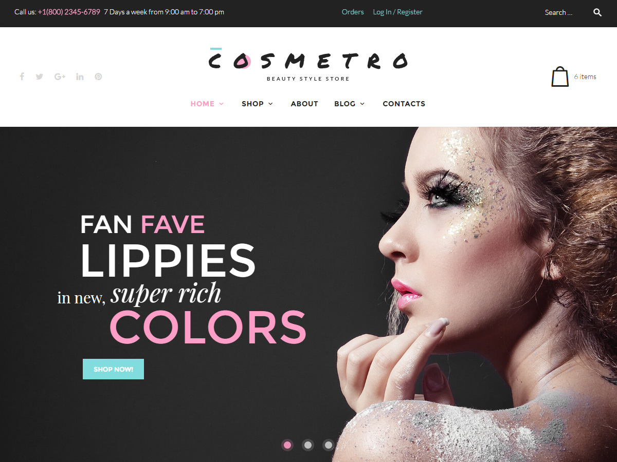 Cosmetro WordPress shop theme