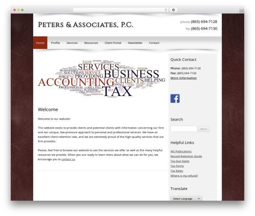 Customized WordPress template for business - petersandassociatescpas.com