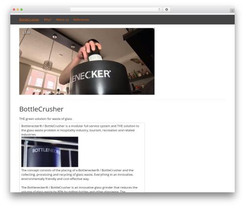 DarkOrange best free WordPress theme - bottleshredder.com