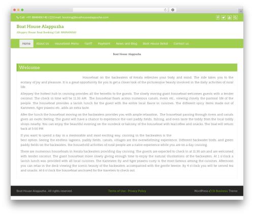 Di Business free WordPress theme - boathousealappuzha.com