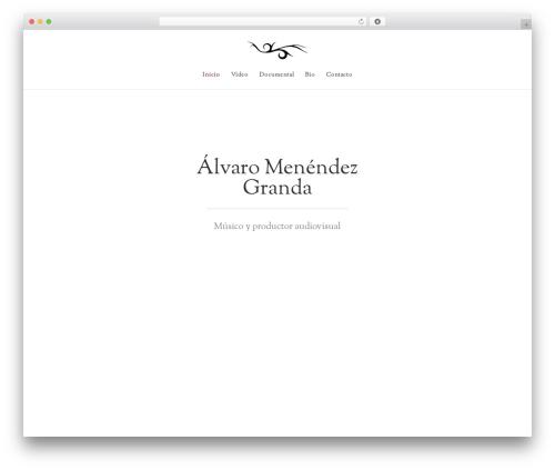 Divi WordPress website template - alvaromenendez.com