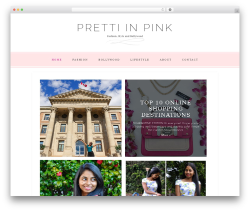 Faithful Theme fashion WordPress theme - prettiinpink.com