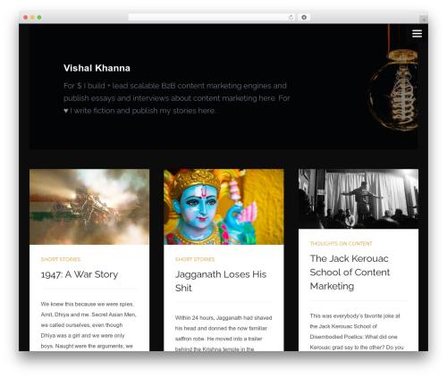 Ivy best WordPress template - vishalkhanna.com