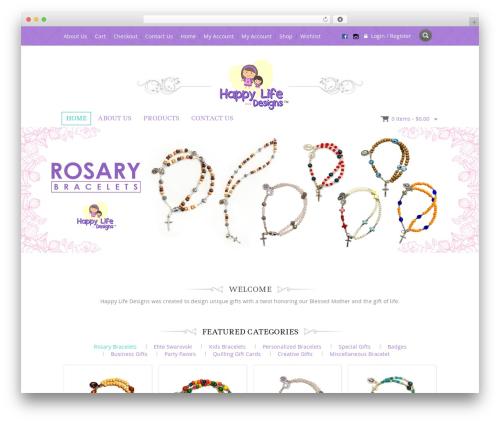 Jewellery WordPress theme - happylifedesigns2016.com