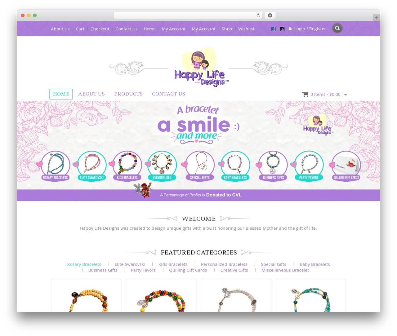 Jewellery WordPress theme - happylifedesigns2016.com