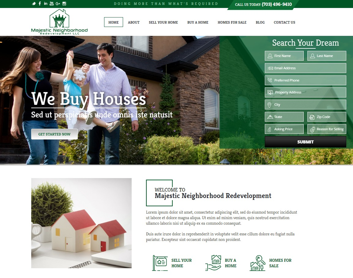 Majestic Neighborhood Redevelopment WordPress theme