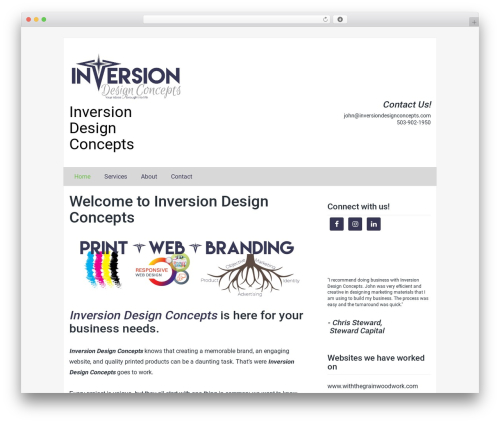 Passionate template WordPress free - inversiondesignconcepts.com