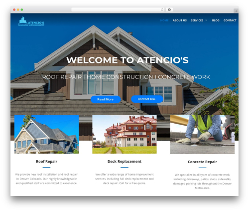 Roofing WordPress website template - constructionandlandscape.com