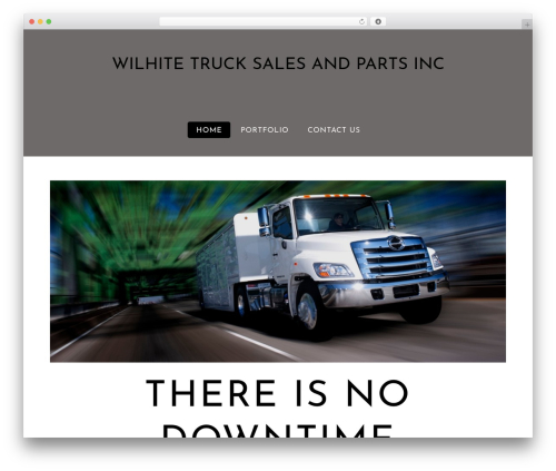 Themify Flat premium WordPress theme - wilhitetruck.com