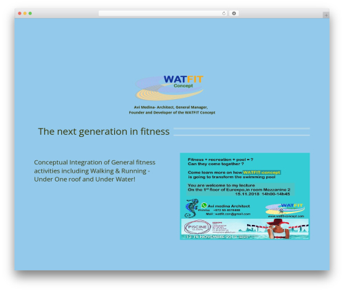 Wipi Theme WordPress template - watfit-concept.com