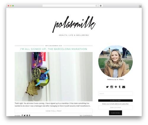 WordPress template Tundra (pipdig) - p0larmilk.com