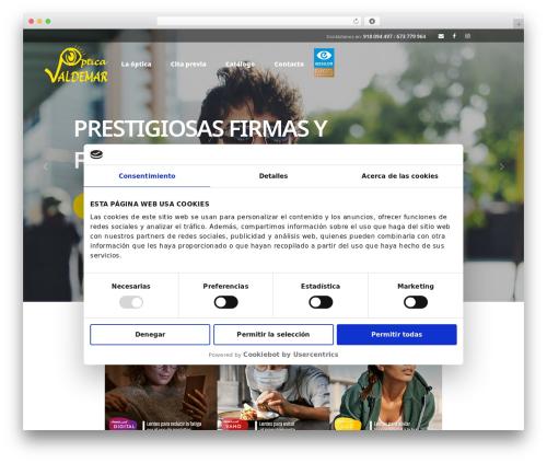 WordPress theme Opti - opticavaldemar.com