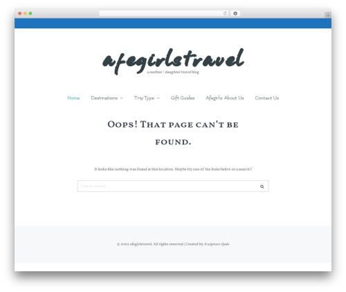 WP theme Carbis - afegirlstravel.com