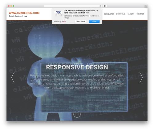 AccessPress Parallax free WP theme - s2kdesign.com
