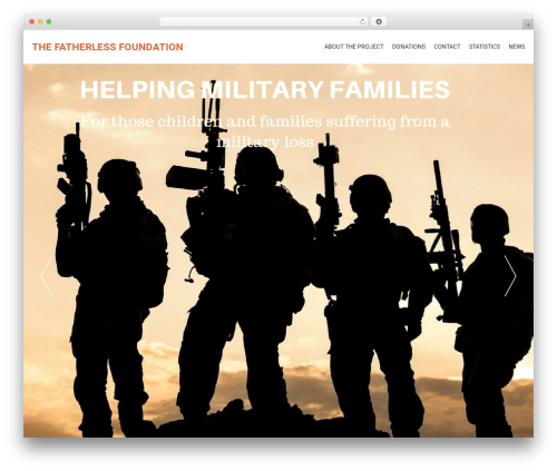 AccessPress Parallax theme WordPress - thefatherlessfoundation.com