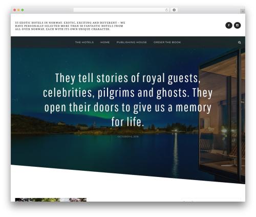 Anemone best WordPress template - exotichotelsinnorway.com