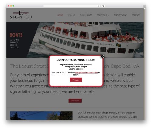 Avada WordPress template for business - locuststreetsign.com
