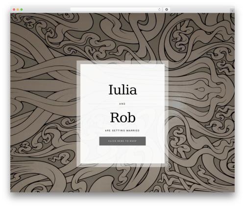Bloom WordPress theme - robandiulia.com