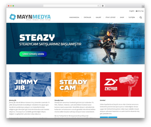 () Bouncy WordPress website template - maynmedya.com
