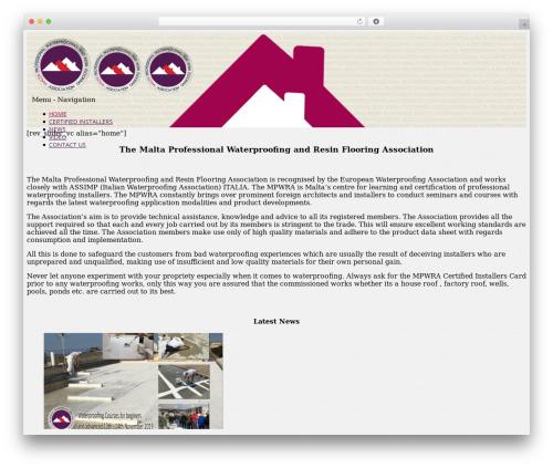 Brazil WordPress theme - maltawaterproofing.com