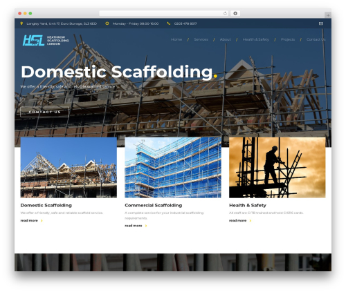 BuildPro WP template - heathrowscaffoldings.com