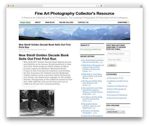 Cutline 3-Column Right best WordPress gallery - philiphydephotographycollector.com