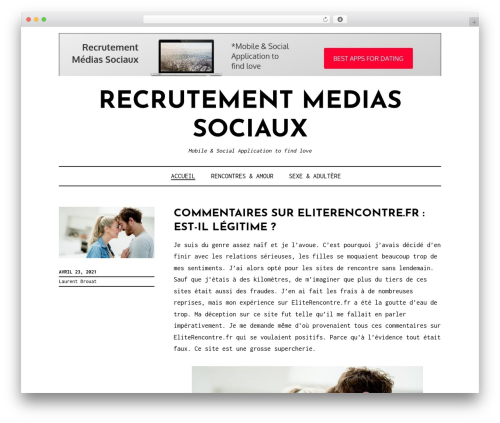 Didi Lite best free WordPress theme - recrutementmediassociaux.com
