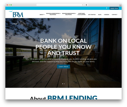 Divi WordPress theme - brmlending.com
