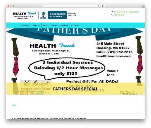 Modena template WordPress - healthtouchinc.com