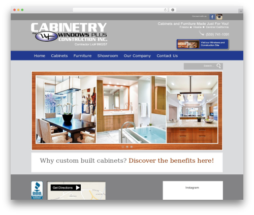 Modular WordPress store theme - cabinetshop-windowsplus.com