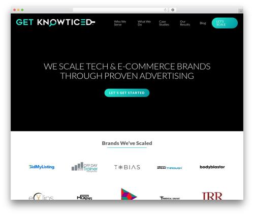 Salient business WordPress theme - getknowticed.com