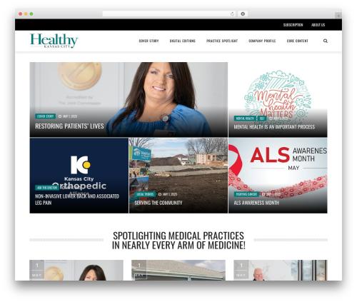 The REX top WordPress theme - healthykcmag.com
