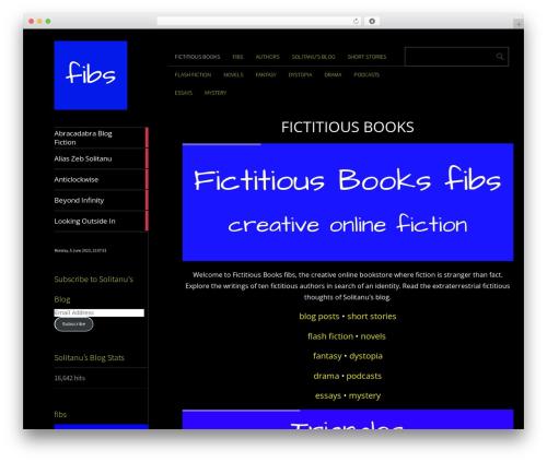Theme WordPress Metro CreativeX - fictitiousbooks.com