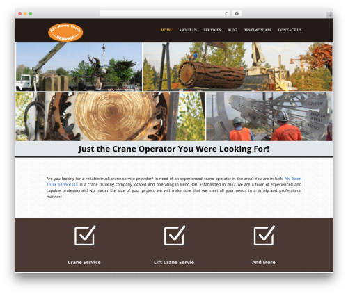 WordPress theme Divi - alsboomtrucks.com