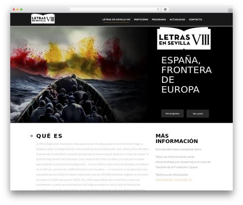 WordPress website template Eventiz - letrasensevilla.com