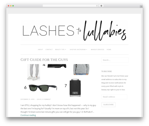 WP theme Penscratch 2 - lashestolullabies.com