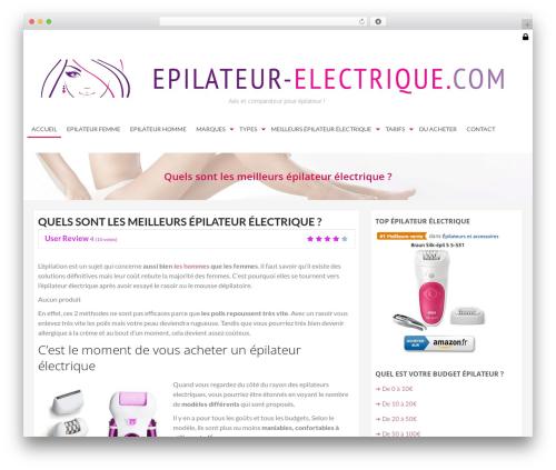 AccessPress Store best free WordPress theme - epilateur-electrique.com