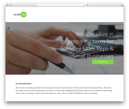 Ascension WordPress website template - allentaxaccounting.com
