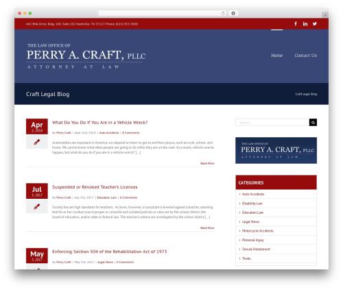 Avada WordPress page template - craftlegalblog.com