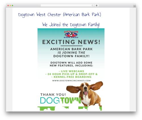 Beaver Builder Theme best WordPress template - americanbarkpark.com