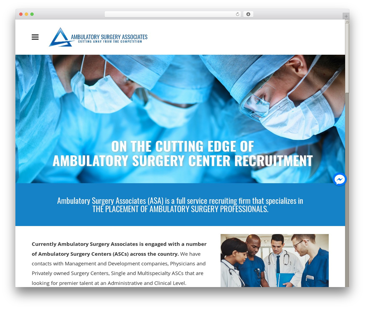 Bento theme WordPress free - ambulatorysurgeryassociates.com