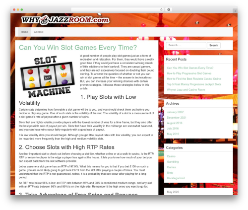 Best WordPress template LineDay - whynotjazzroom.com