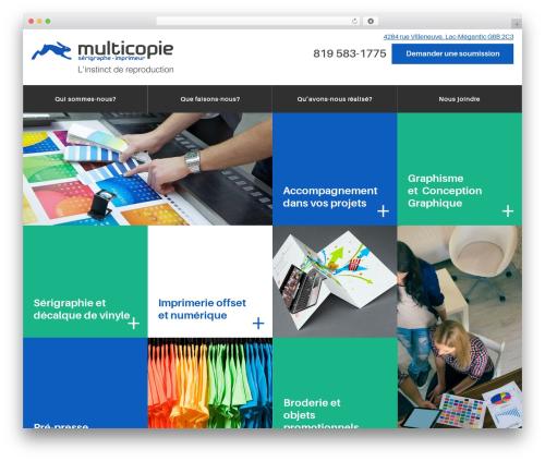 Best WordPress theme PloggMedia - multicopie.com