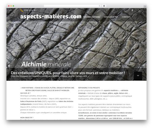 Burst WordPress theme design - aspects-matieres.com