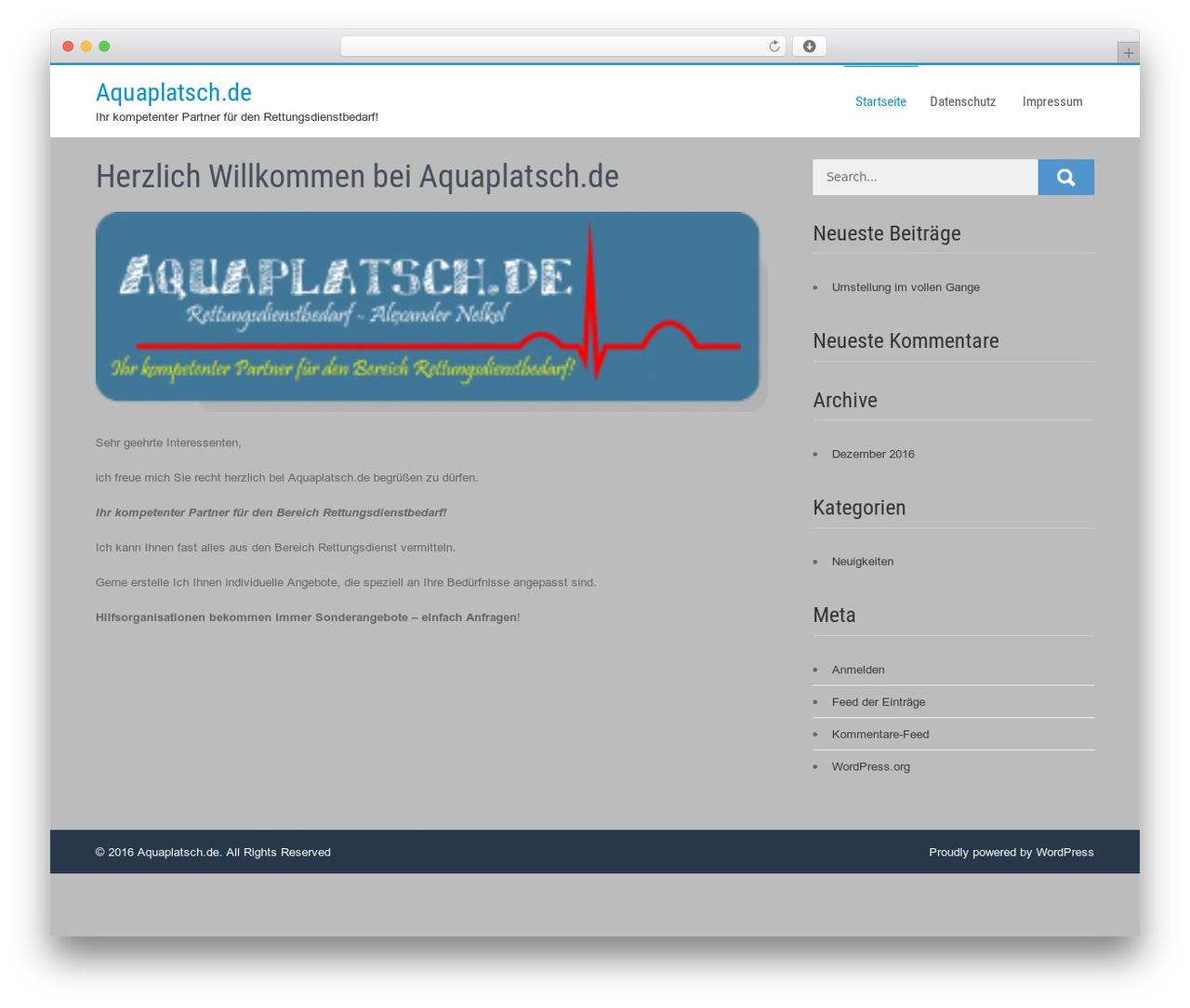 Businessweb Plus free WP theme - aquaplatsch.com